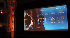 Get On Up premiere at the Apollo screen