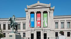 Museum of Fine Arts exterior – Appeal to the Great Spirit sculpture