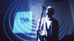 R.E.M. film tour - Michael Stipe singing