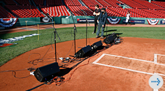 Special Events at Fenway - mics at home plate